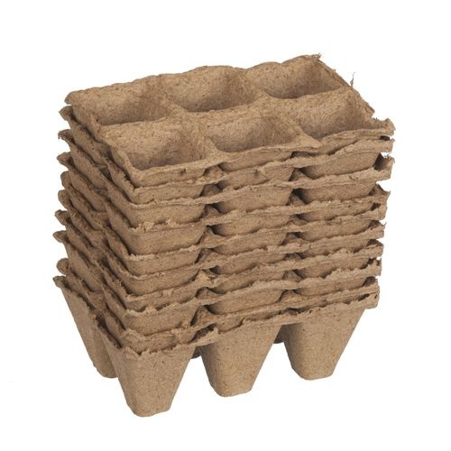 Pots en tourbe Nortene 5 x 5 x 5 cm - 6 x 10 pcs