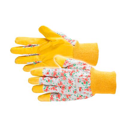 Busters handschoenen Flower katoen en PVC M8