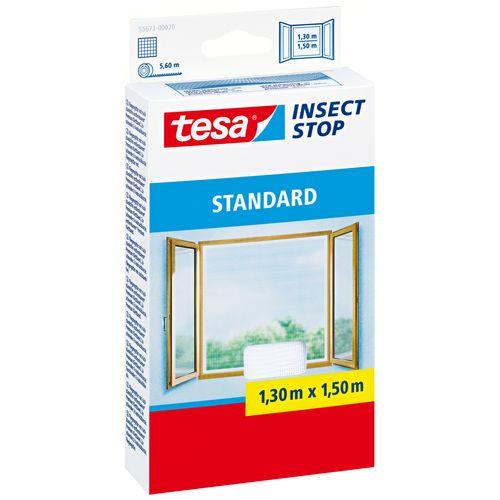 Moustiquaire pour fenêtre Tesa 'Standard' blanc 1,5 x 1,3 m