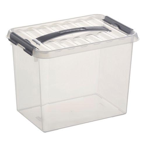 Sunware opbergbox 'Q-line' 9L transparant/metaal