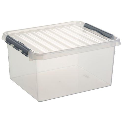 Sunware opbergbox Q-line 36L transparant