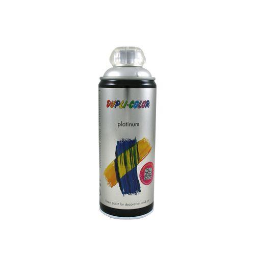 Peinture en Spray Dupli-Color Platinum aluminium blanc satiné 400 ml