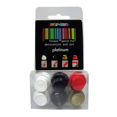 Dupli-Color kit 6 spuitkopjes spray 'Platinum'