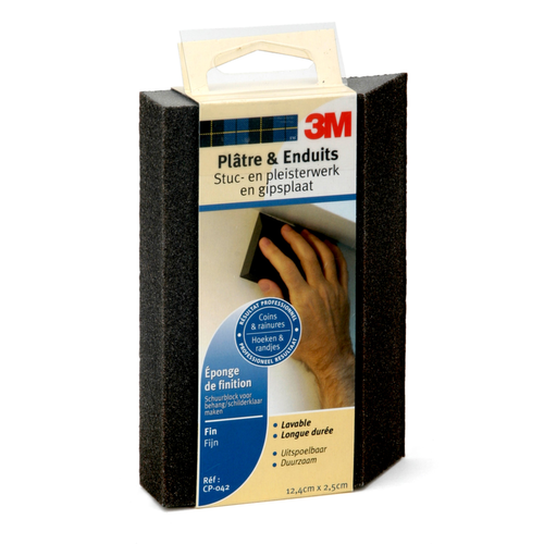 3M schuurblok voor stuc- en pleisterwerk middel hoeken fijn & middel