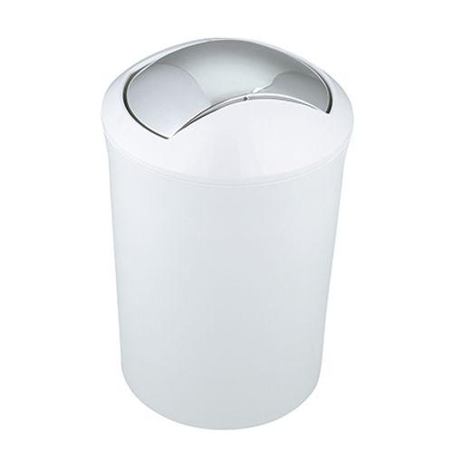 Poubelle Spirella 'Malibu' matière synthétique blanc 5L