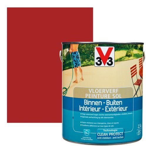 Peinture sol V33 intérieur/extérieur rouge laque satiné 2,5L