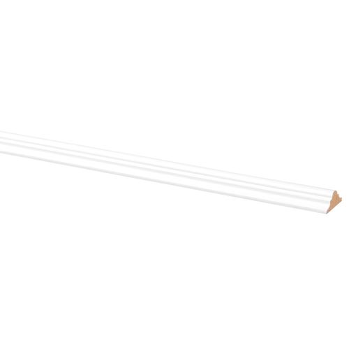 Decorlijst MDF folie zelfklevend 1022 9 x 22mm wit 260cm