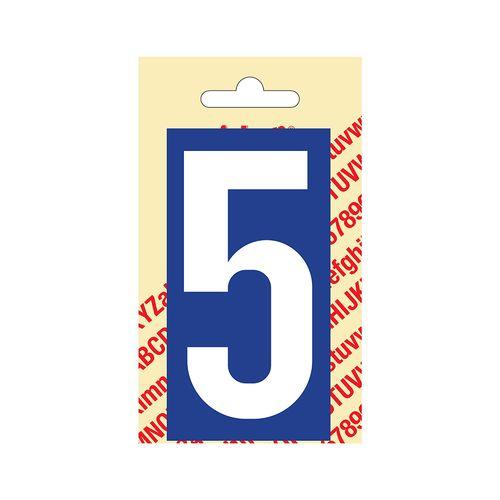 Chiffre PickUp '5' bleu 90 mm