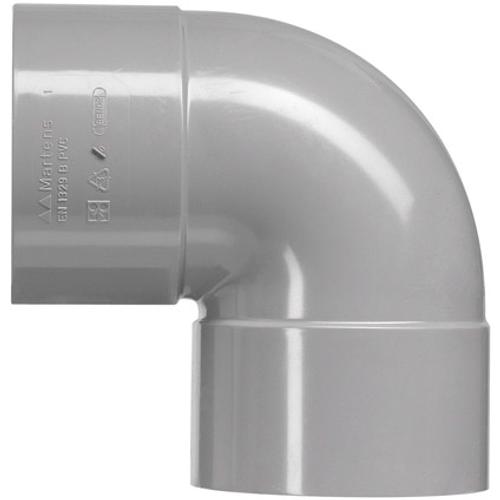Martens PVC bocht 75mm 2xlm 87gr grijs