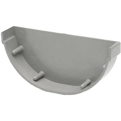 Martens eindstuk mastgoot 150mm grijs