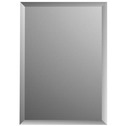 Plieger spiegel Charleston met facetrand rechthoek 70x55cm zilver