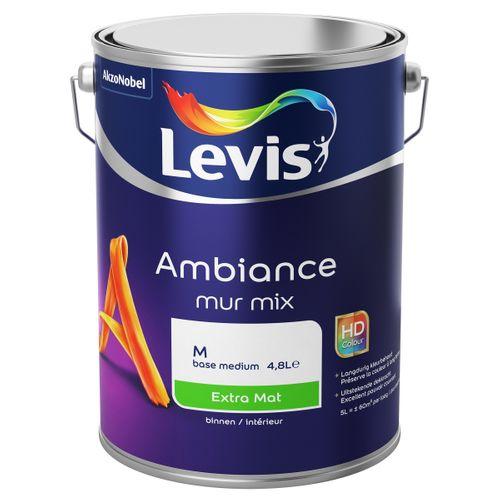 Levis muurverf Ambiance Muur base M wit extra mat 5L