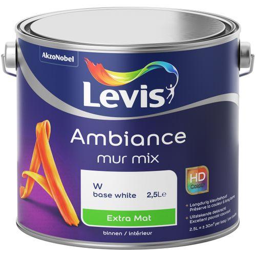 Peinture murale Levis Ambiance Mur base W extra mat 2,5L