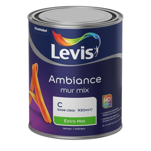 Levis muurverf Ambiance Mur base C extra mat 1L