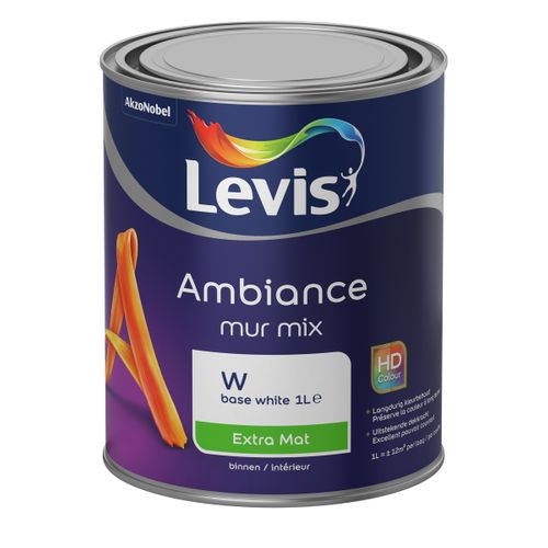 Levis muurverf Ambiance Mur base W extra mat 1L