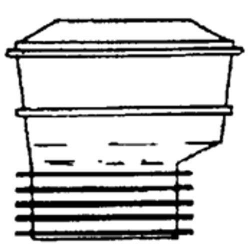 Manchon pour WC Saninstal excentrique Ø99/105mm blanc avec joint à lèvre