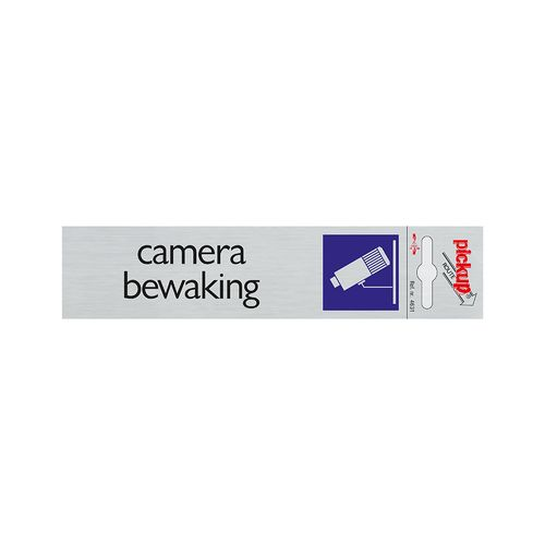 Pickup aluminium plaat Route Camerabewaking 165x44mm