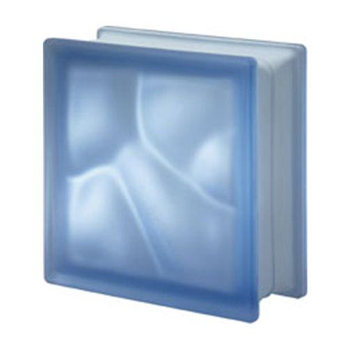 Brique de verre Verhaert bleu satiné