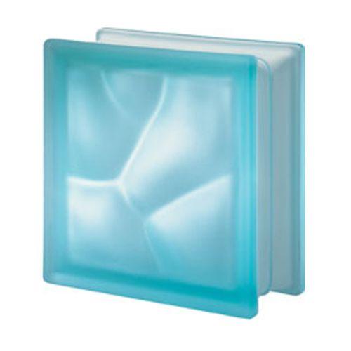 Brique de verre Verhaert 'Aqua' satin