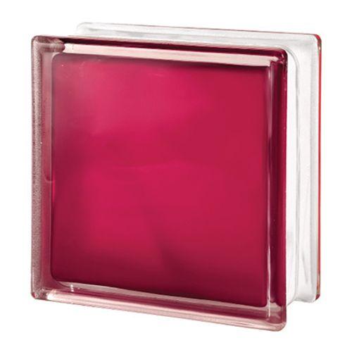 Brique de verre Verhaert rouge mat