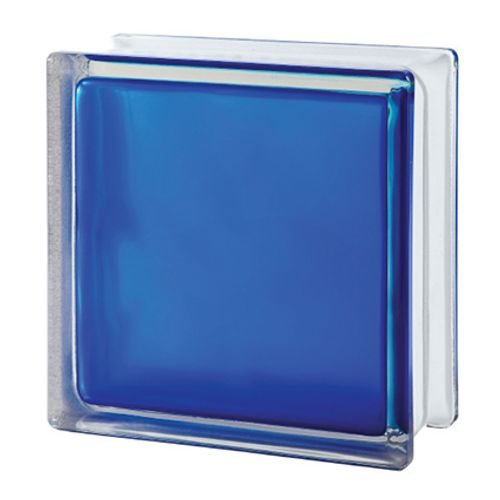 Brique de verre Verhaert bleu mat
