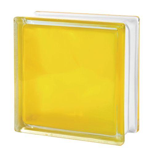 Brique de verre Verhaert jaune mat