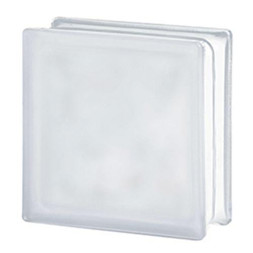 Brique de verre Verhaert 'Sandy' transparent mat