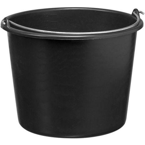 Martens bouwemmer 20 liter zwart