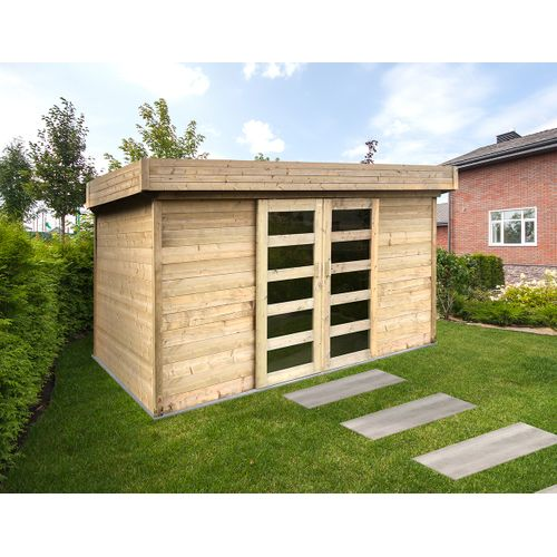 Solid abri de jardin Stockholm bois 8,83m² 362x244cm