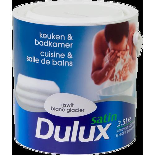 Peinture Dulux 'Cuisine & Salle de bains' blanc glacier satin 2,5L