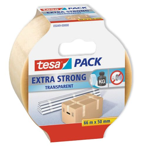 Bande adhésive d'emballage Tesa 'Pack Extra Strong' transparent 66 m x 50 mm