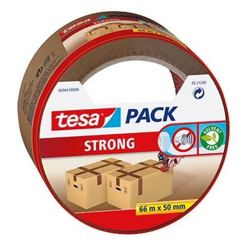 Ruban adhésif d'emballage Tesa 'Pack Strong' bruin PP 66 m x 50 mm