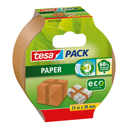 Ruban d'emballage Tesa 'Pack Papier Eco' 25 m x 38 mm