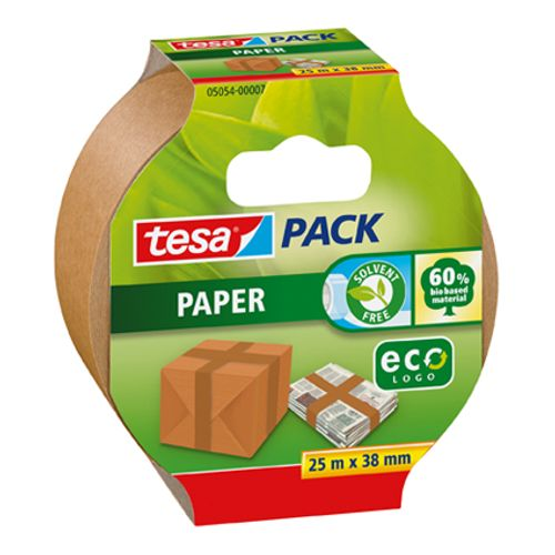 Ruban d'emballage Tesa 'Pack Papier Eco' 25 m x 38 mm