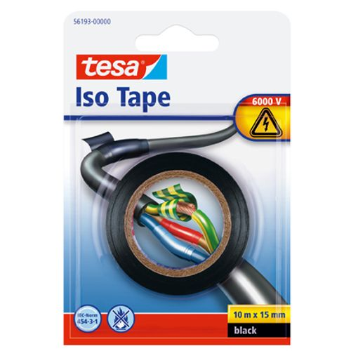 "Tesa ""Iso tape"" zwart 10mx15mm"