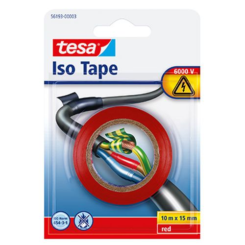 Tesa isolatietape rood 10mx15mm