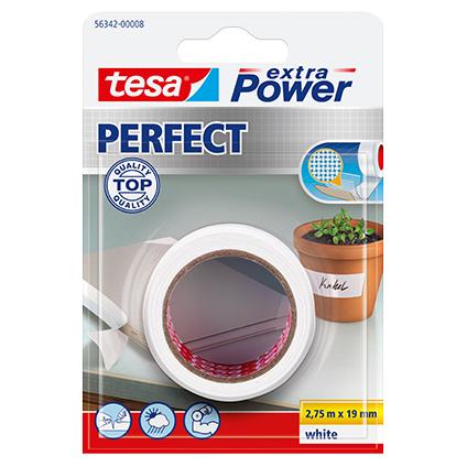 Ruban adhésif Extra Power Tesa 'Perfect' blanc 2,75 x 19 mm