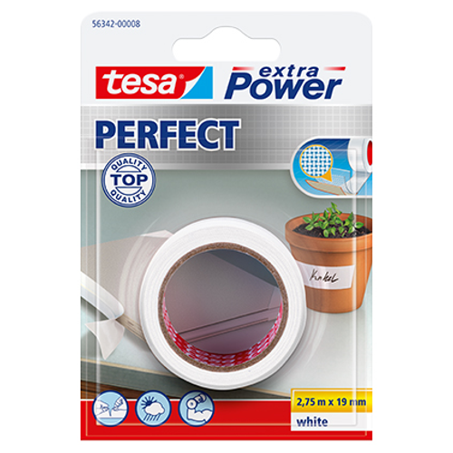 Tesa tape Extra Power Perfect wit 2,75m x 19mm