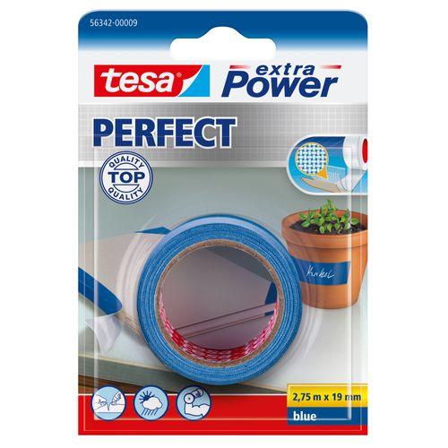 Ruban Adhésif Tesa Extra Power Perfect tape 19mmx2,75m bleu