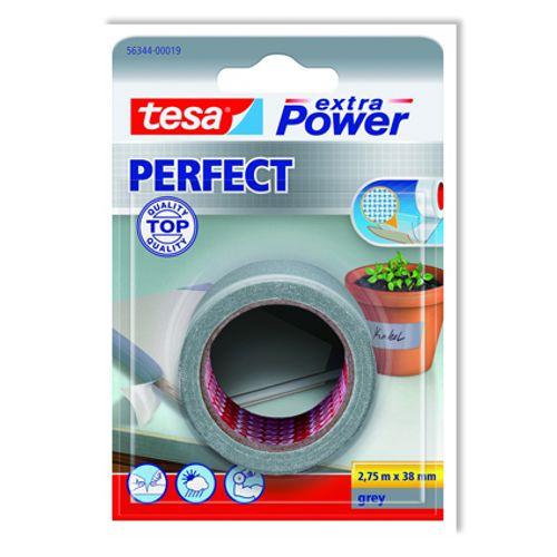 Ruban adhésif Extra Power Tesa 'Perfect' gris 2,75 m x 38 mm