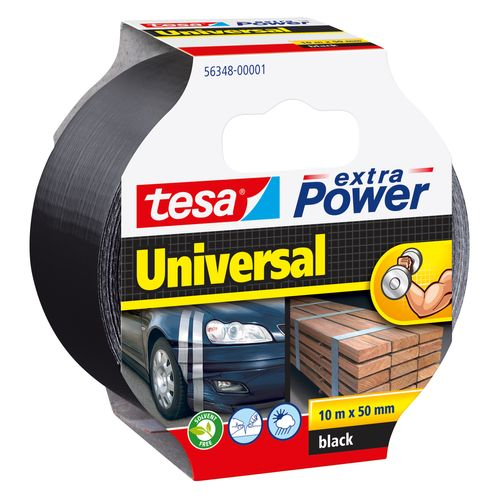 Tesa tape Extra Power 'Universal' zwart 10 m x 50 mm