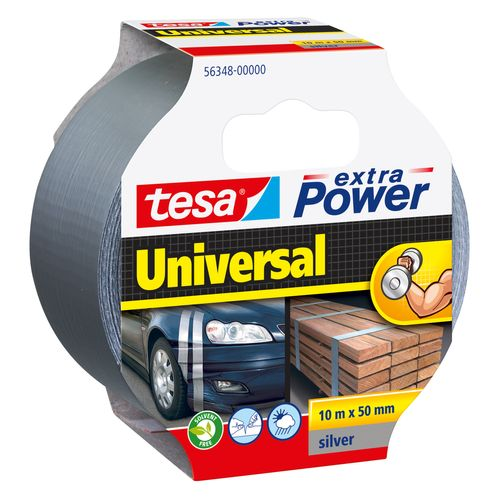 Ruban adhésif Extra Power Tesa 'Universal' gris 10 m x 50 mm