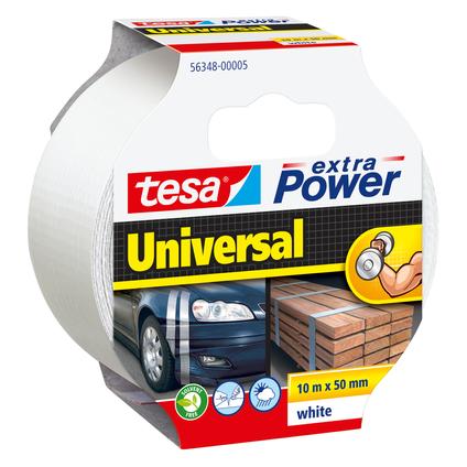 Ruban adhésif Extra Power Tesa 'Universal' blanc 10 m x 50 mm