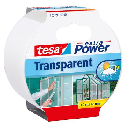 Ruban adhésif Extra Power Tesa 'Transparent' 10 m x 48 mm