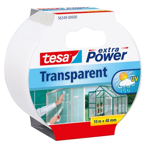 Ruban adhésif Extra Power Tesa 'Transparent' 10 m x 48 mm