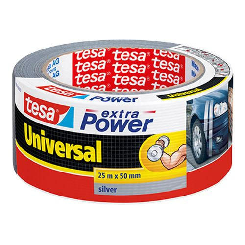 Tesa tape Extra Power 'Universal' grijs 25 m x 50 mm