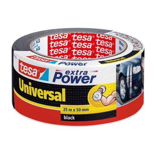 Tesa tape Extra Power Universal zwart 25m x 50mm