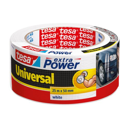 Tesa reparatietape Extra Power 'Universal' wit 25 m x 50 mm