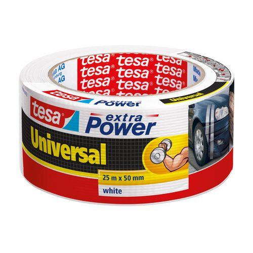 Ruban adhésif conducteur Extra Power Tesa 'Universal' blanc 25 m x 50 mm