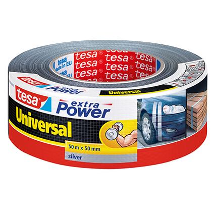 Ruban adhésif Extra Power Tesa 'Universal' gris 50 m x 50 mm